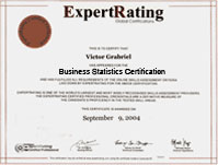 Business Statistics Certification