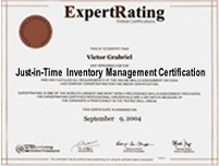 Just-In-Time Inventory Management Certification