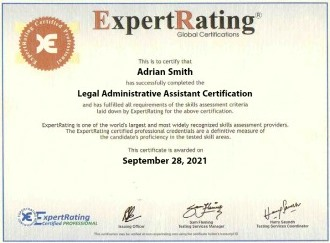 Legal Administrative Assistant Certification